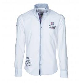 Heren Overhemd Pontto -  8000 White