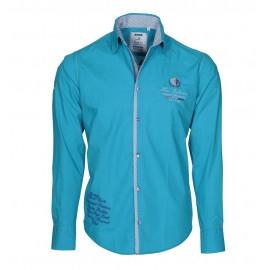 Heren Overhemd Pontto -  8000 Aqua