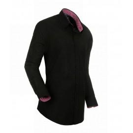 Heren Overhemd Styleover - 3010 Black/Brown