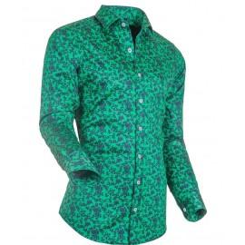 Heren Overhemd Styleover - 3176 Printed Green/Navy