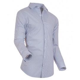 Heren Overhemd Styleover - 3182 Printed White/Navy