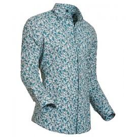 Heren Overhemd Styleover - 5003 Printed Green
