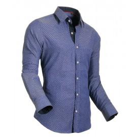 Heren Overhemd Styleover - 5012 Pixel Blue