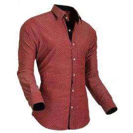 Heren Overhemd Styleover - 5012 Pixel Red