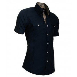 Heren Overhemd Styleover - 5013 Basic Navy