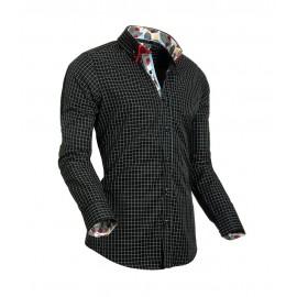 Heren Overhemd Styleover - 5014 Basic Ruit Black