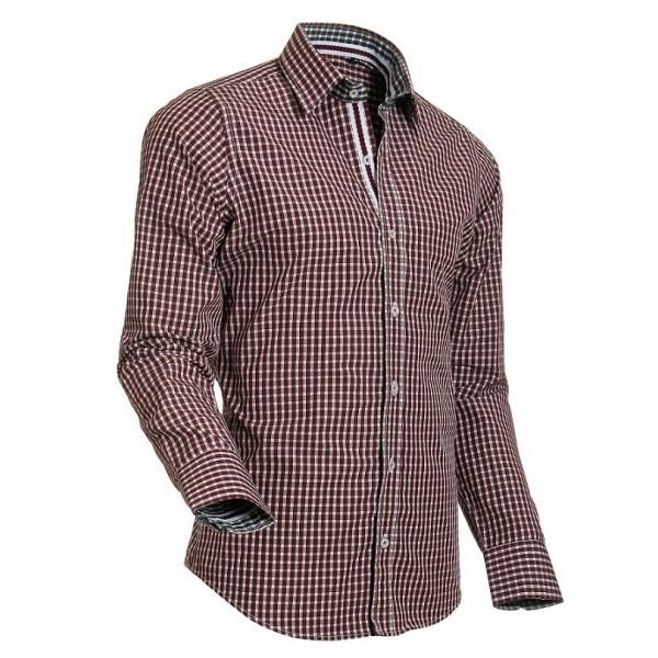 Bordeaux Overhemd.Heren Overhemd Styleover 5015 Vicikaro Bordeaux