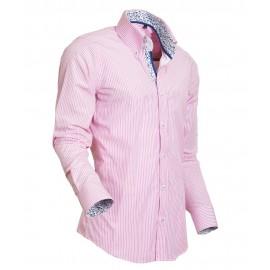 Heren Overhemd Styleover - 5016 Streep Pink