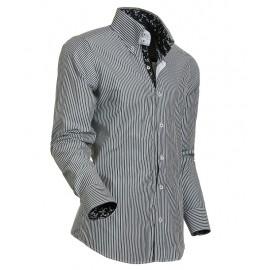 Heren Overhemd Styleover - 5016 Streep Black
