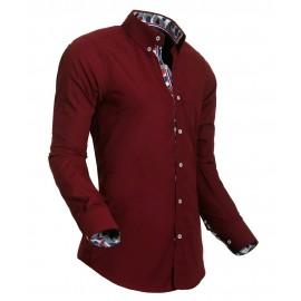 Heren Overhemd Styleover - 5017 Desin Bordeaux