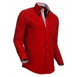 Heren Overhemd Styleover - 5019 Basic Red