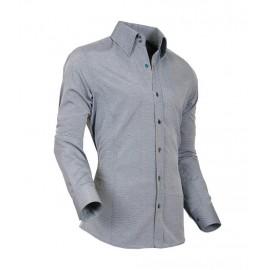 Heren Overhemd Styleover - 5021 Basic met Structuur Grey/Navy