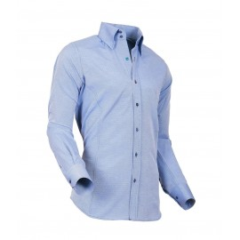 Heren Overhemd Styleover - 5021 Basic met Structuur Blue