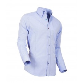 Heren Overhemd Styleover - 5021 Basic met Structuur Lichtblue