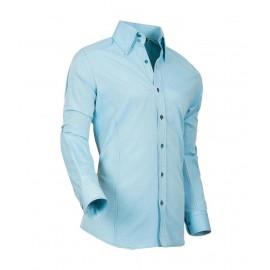Heren Overhemd Styleover - 5021 Basic met Structuur Aqua