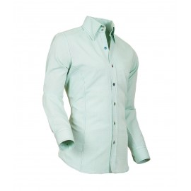 Heren Overhemd Styleover - 5021 Basic met Structuur Lightgreen