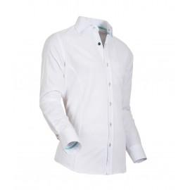 Heren Overhemd Styleover - 5022 Basic met Structuur White