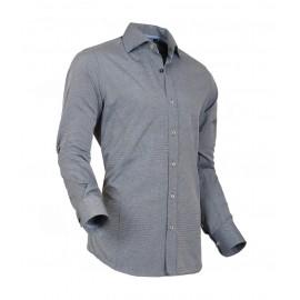 Heren Overhemd Styleover - 5022 Basic met Structuur  Navy/Grey