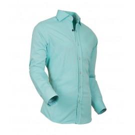 Heren Overhemd Styleover - 5022 Basic met Structuur  Darkgreen