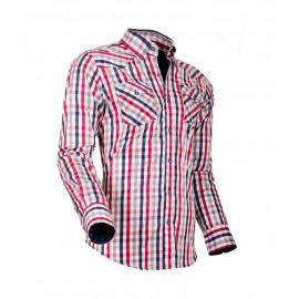 Heren Overhemd Styleover - 5023 Karo Blue-Red