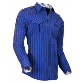 Heren Overhemd Styleover - 5025 Karo Blue