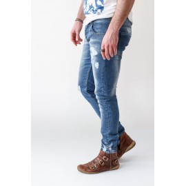 Ezequiel Jaquez Jeans Slim-fit Destroyed Denim Low Waiste