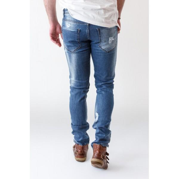 Ezequiel Jaquez Jeans Slim-fit Destroyed Denim Low Waiste