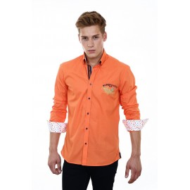 Heren Overhemd Pontto -  8005 Orange