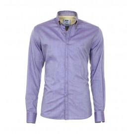 Heren Overhemd Pontto - 8010  Purple