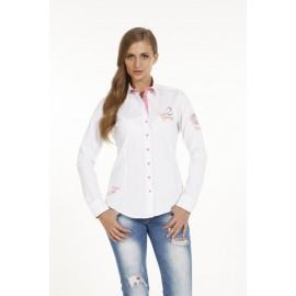 Dames Blouse Pontto Pink-Line - 9001 White