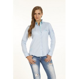 Dames Blouse Pontto Pink-Line - 9001 Lightblue