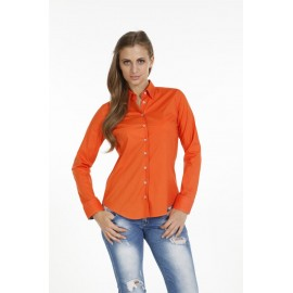 Dames Blouse Pontto Pink-Line - 9002 Basic Orange
