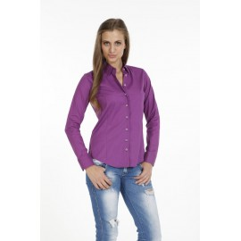 Dames Blouse Pontto Pink-Line - 9002 Basic Purple