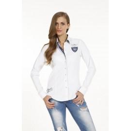 Dames Blouse Pontto Pink-Line - 9003 White