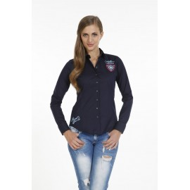 Dames Blouse Pontto Pink-Line - 9003 Navy