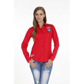 Dames Blouse Pontto Pink-Line - 9003 Red