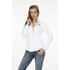 Dames Blouse Pontto Pink-Line - 9005 White