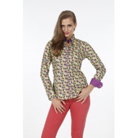 Dames Blouse Pontto Pink-Line - 9005 Printed-Multicolor