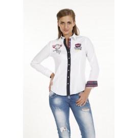 Dames Blouse Pontto Pink-Line - 9006 White