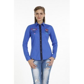 Dames Blouse Pontto Pink-Line - 9006 Blue