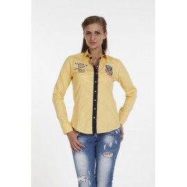 Dames Blouse Pontto Pink-Line - 9006 Yellow