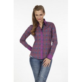 Dames Blouse Pontto Pink-Line - 9006 Printed-Multicolor