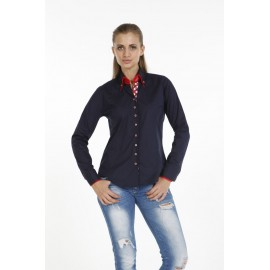 Dames Blouse Pontto Pink-Line - 9007 Navy