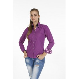 Dames Blouse Pontto Pink-Line - 9007 Purple