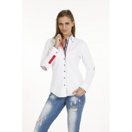 Dames Blouse Pontto Pink-Line - 9009 White