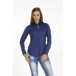 Dames Blouse Pontto Pink-Line - 9009 Navy