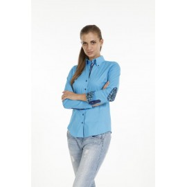 Dames Blouse Pontto Pink-Line - 9009 Lightblue