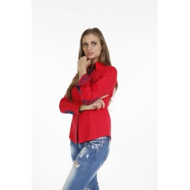 Dames Blouse Pontto Pink-Line - 9009 Red