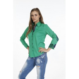 Dames Blouse Pontto Pink-Line - 9009 Green