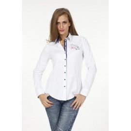 Dames Blouse Pontto Pink-Line - 9010 White